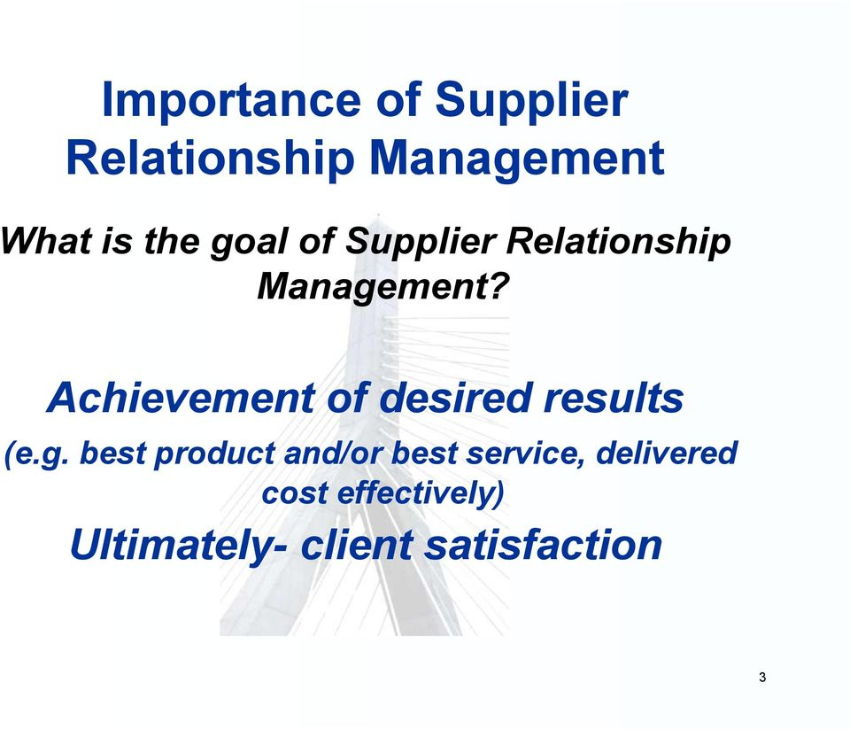 supplier relationship management for the supply A well run supply chain grows customer relationships a growth in sales means you are able to service customers better and faster than the competition they use a grading system for the most common parts and feed information from sales and marketing back to inventory management and.