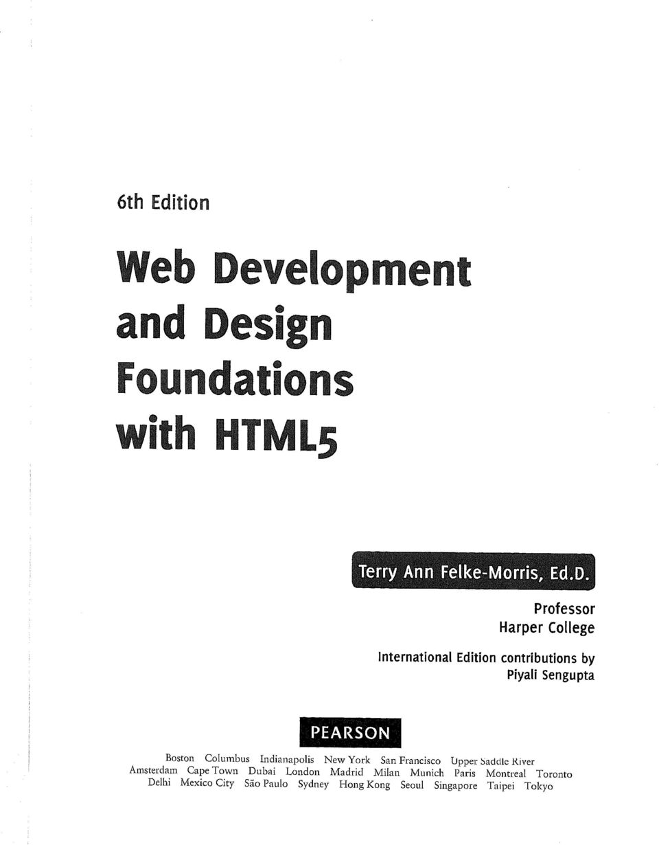 sign Foundations with HTML5 [Terry Ann Felke-Morris, Ed.D.