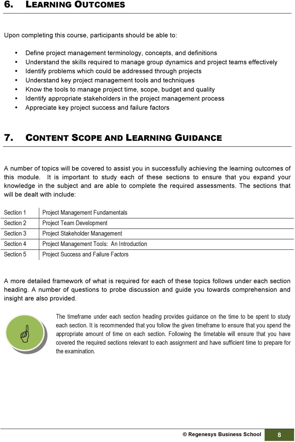 HIGHER CERTIFICATE IN BUSINESS MANAGEMENT. Project Management - PDF