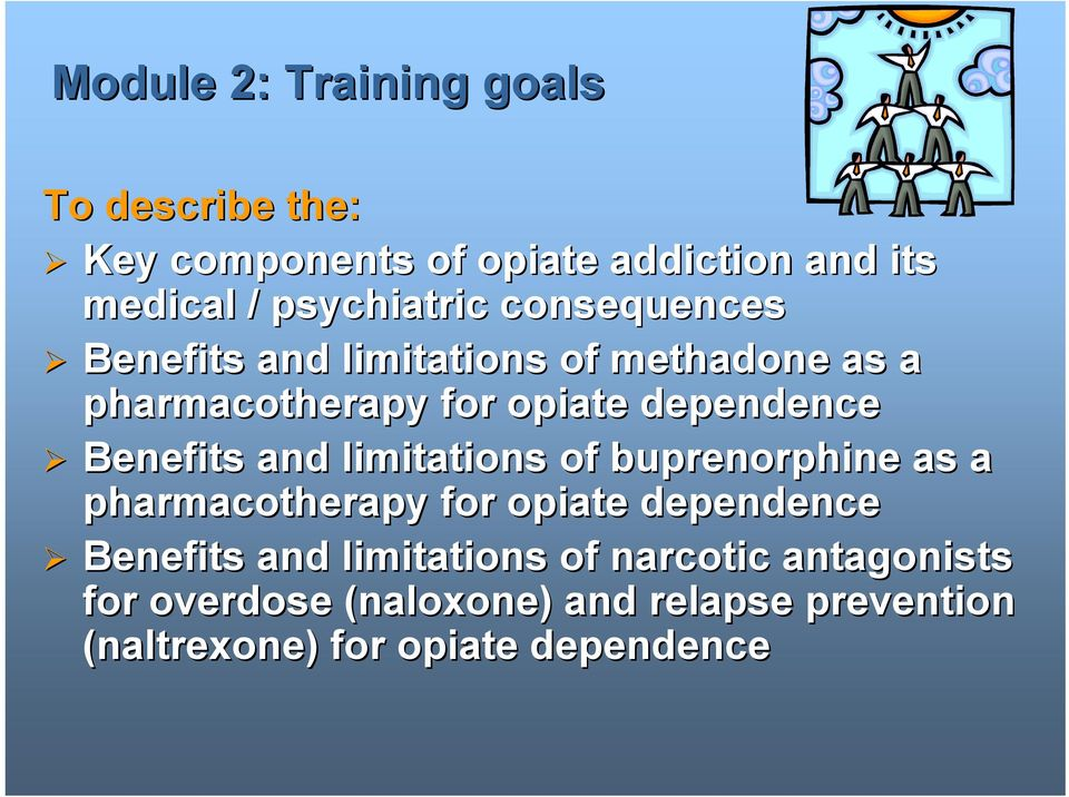 dependence Benefits and limitations of buprenorphine as a pharmacotherapy for opiate dependence