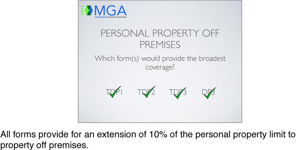 All forms provide for an extension of 10% of