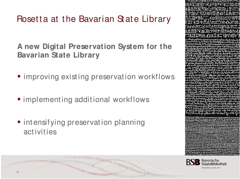 improving existing preservation workflows implementing