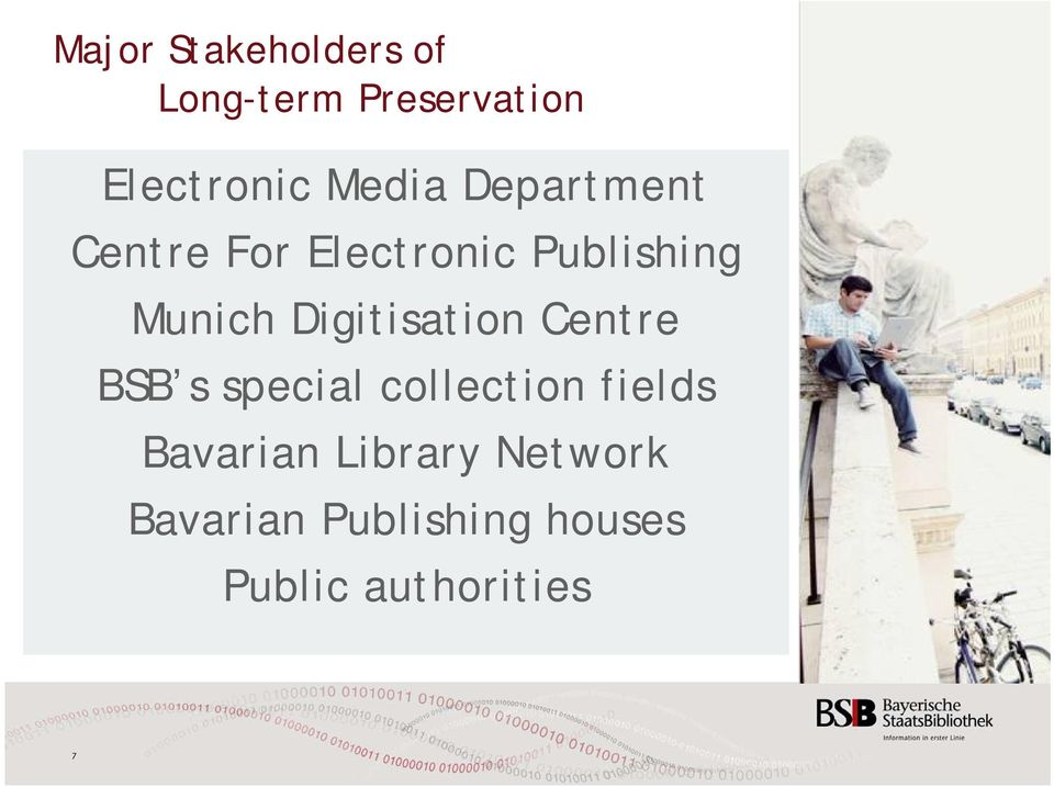 Digitisation Centre BSB s special collection fields