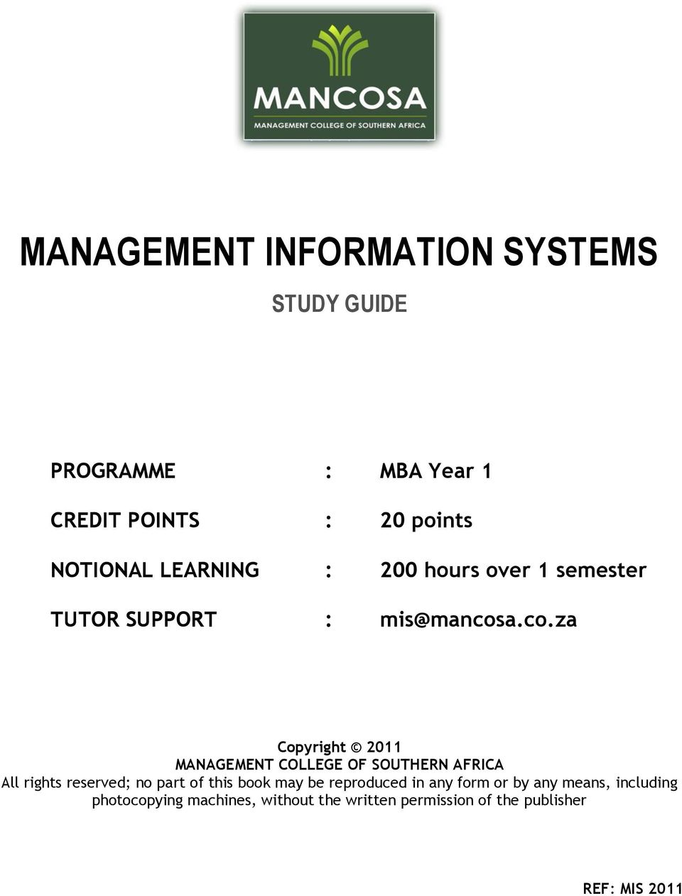Mba Management Information Systems Demirediffusion