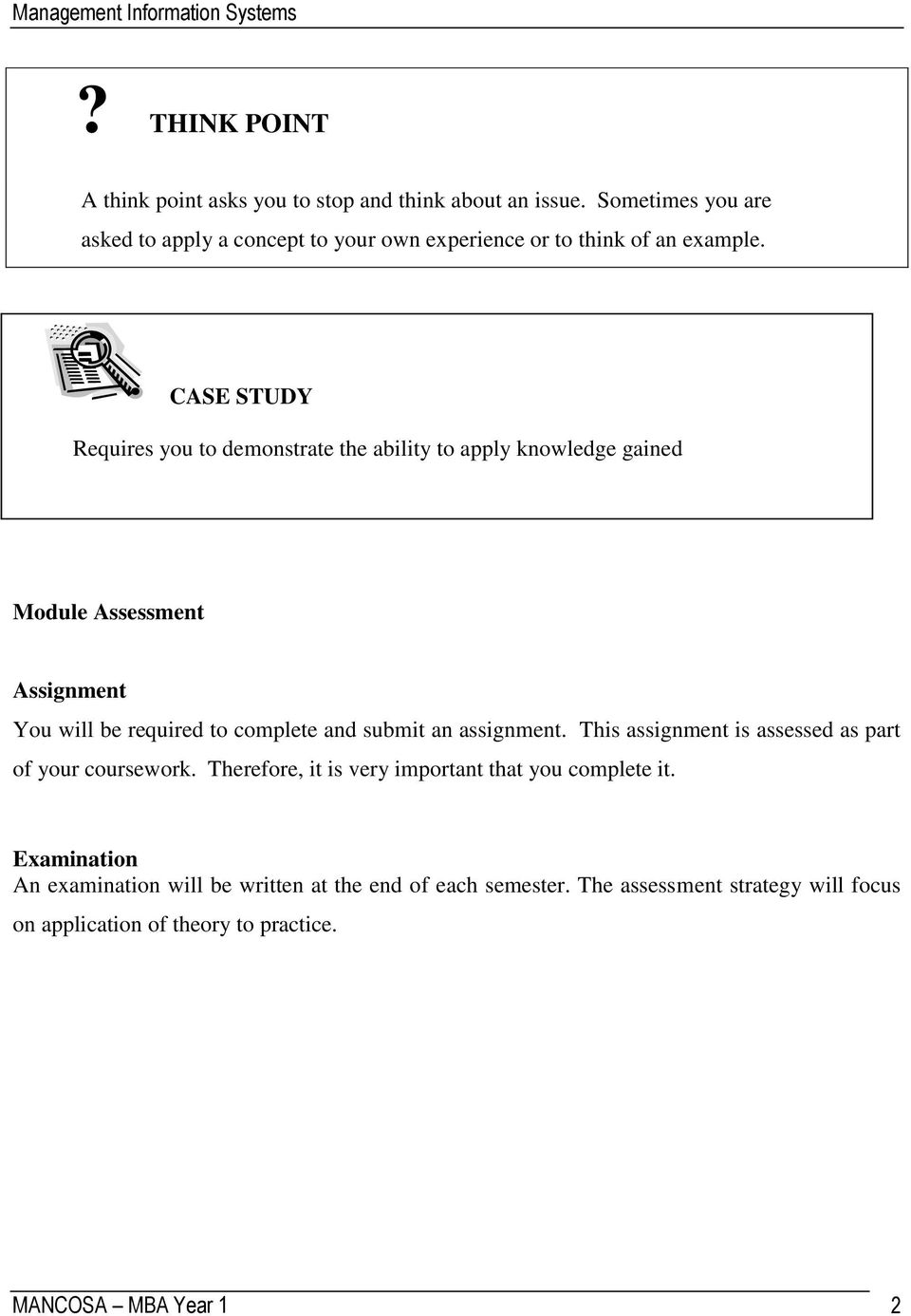 Management information systems pdf case study requires you to demonstrate the ability to apply knowledge gained module assessment assignment you fandeluxe Images