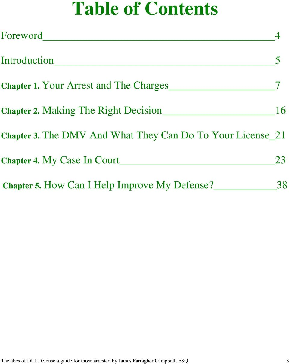 The DMV And What They Can Do To Your License 21 Chapter 4.