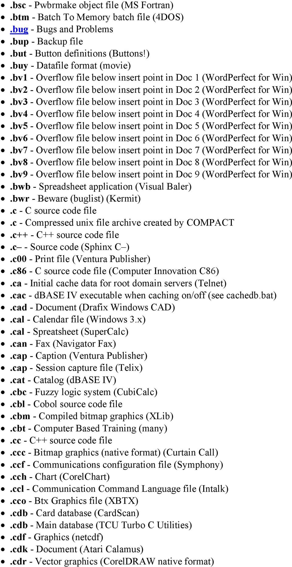 bv3 - Overflow file below insert point in Doc 3 (WordPerfect for Win).bv4 - Overflow file below insert point in Doc 4 (WordPerfect for Win).