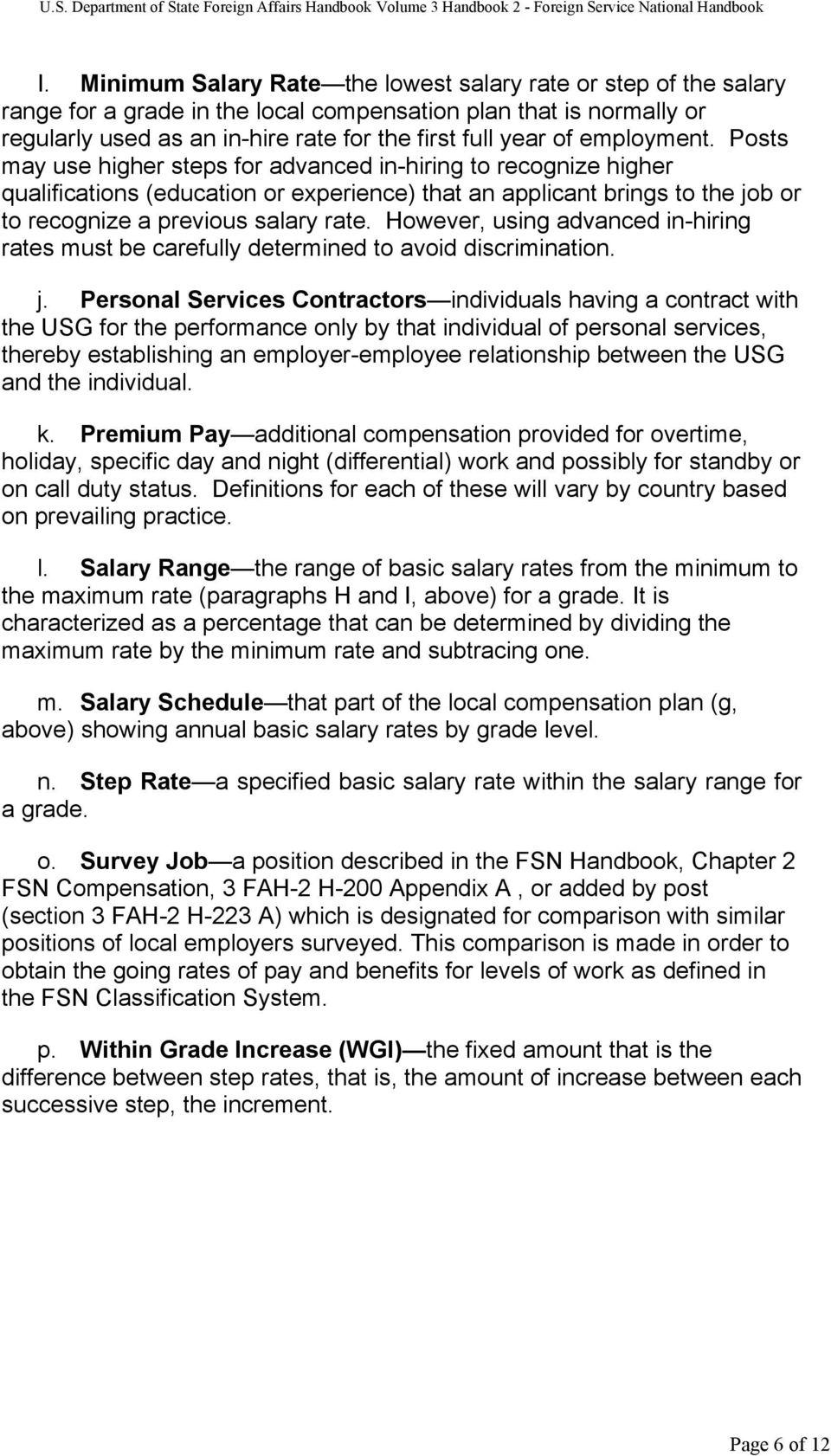 3 FAH2 H200 FOREIGN SERVICE NATIONAL COMPENSATION TLFSNH025 – Personal Service Contract