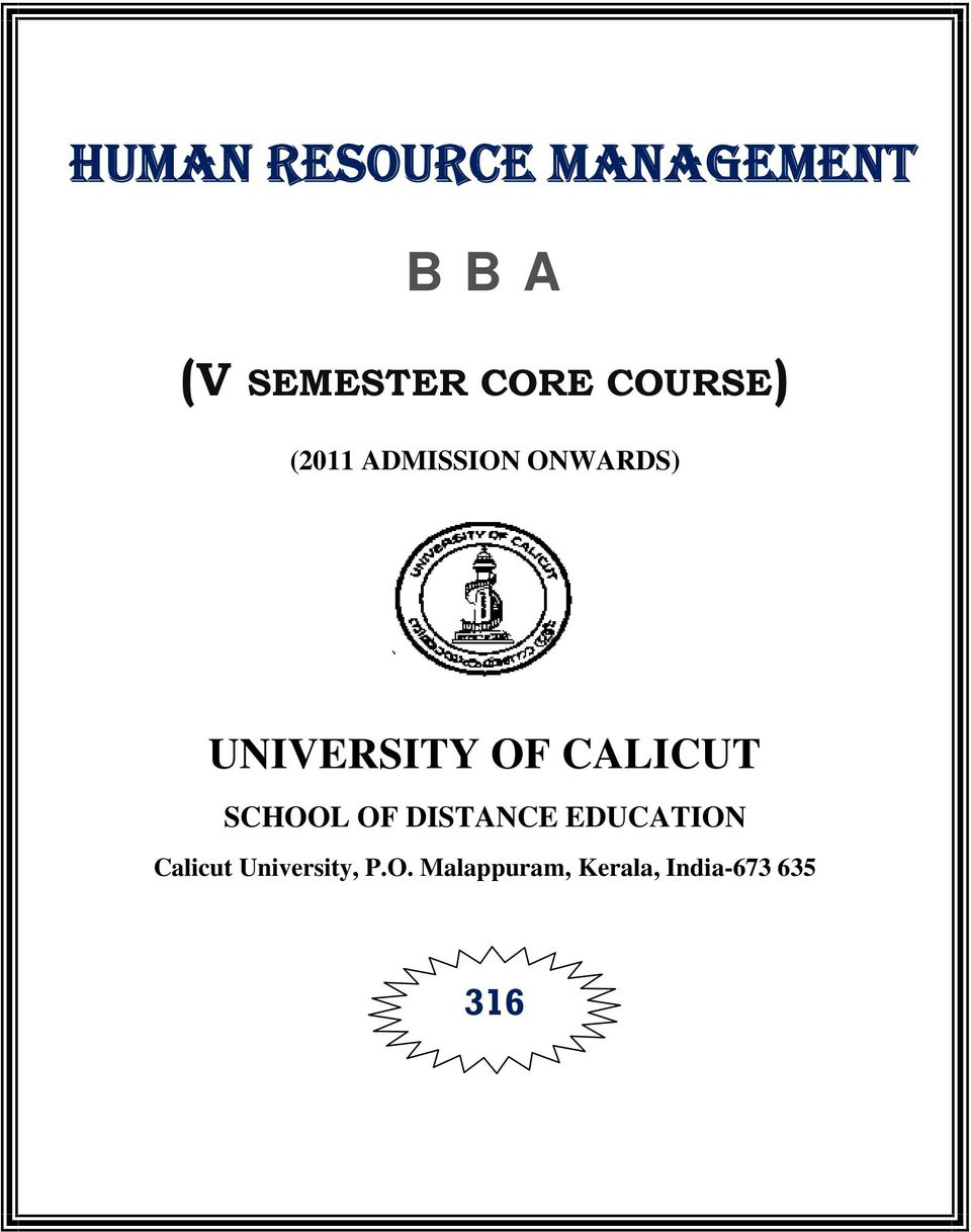 List of Human Resource Management Colleges in India