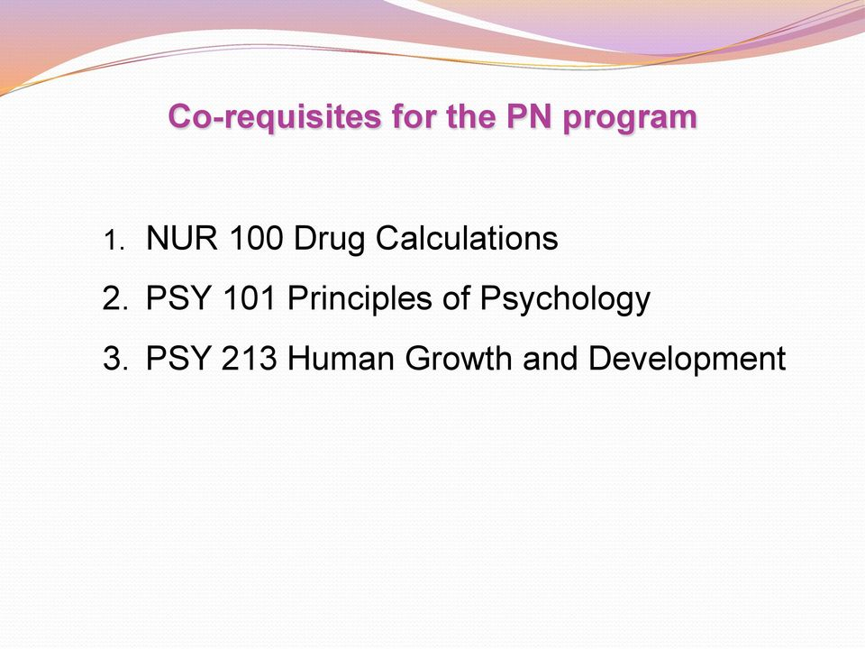 PSY 101 Principles of Psychology 3.