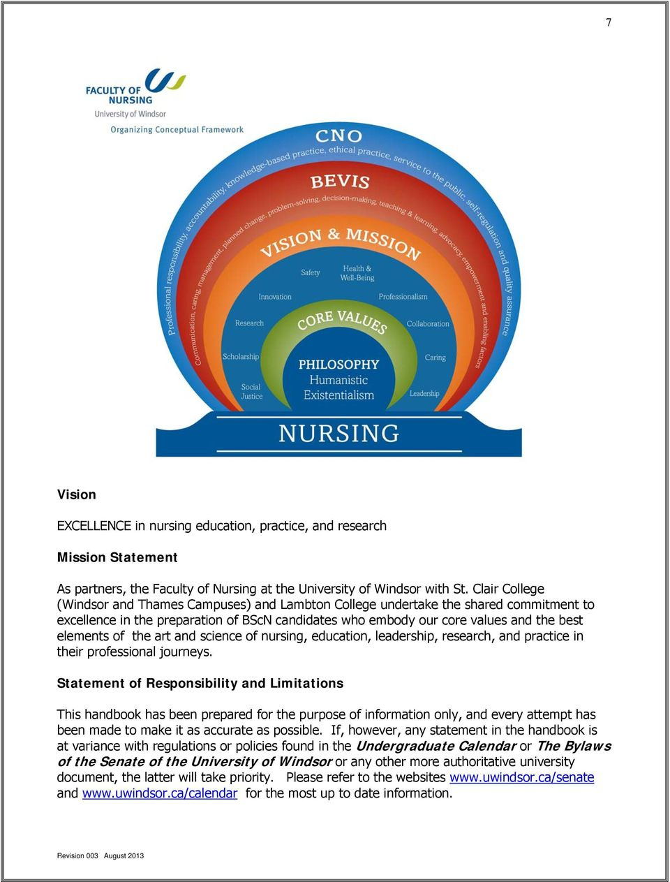 the art and science of nursing, education, leadership, research, and practice in their professional journeys.