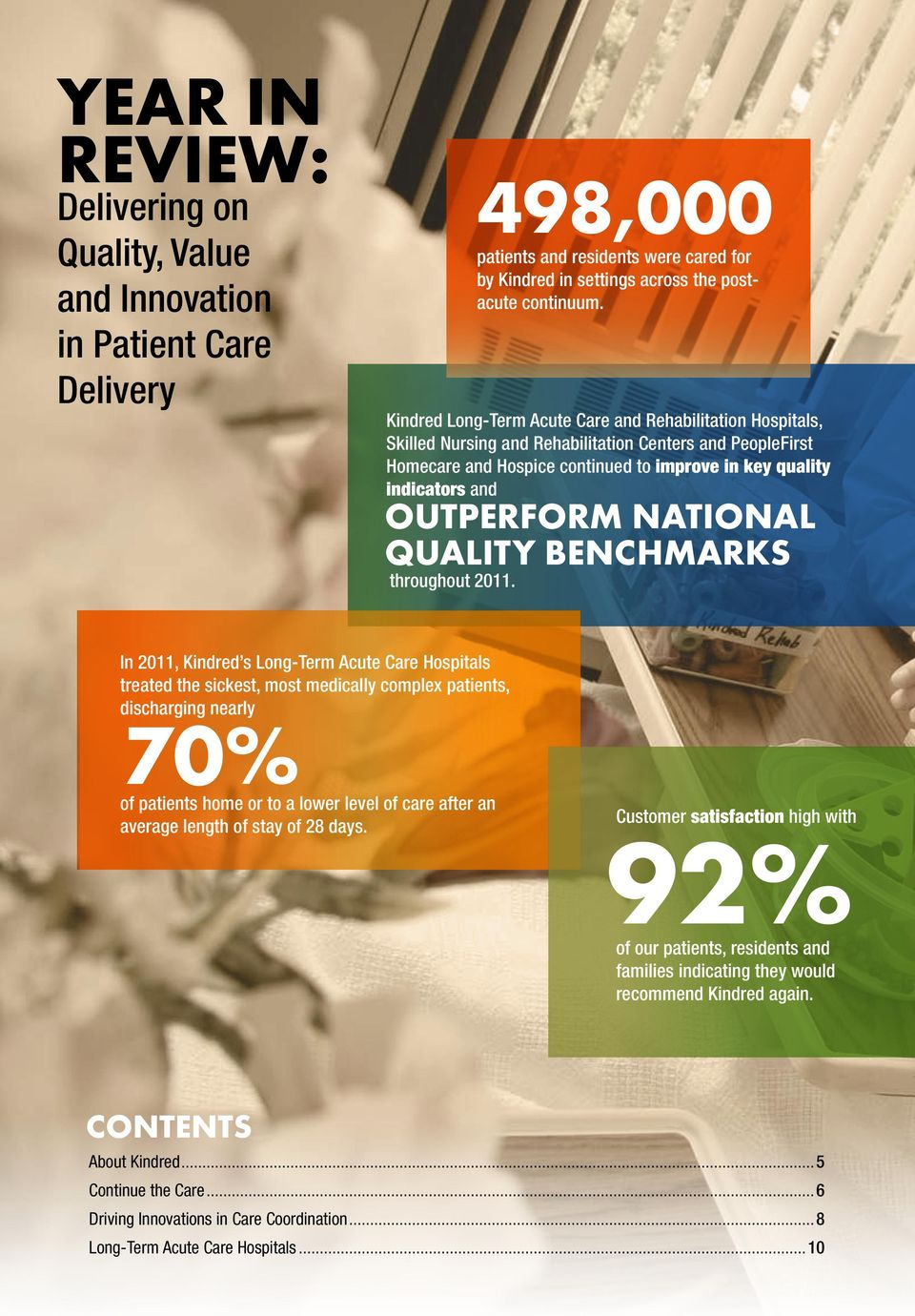outperform national QUALITY benchmarks throughout 2011.