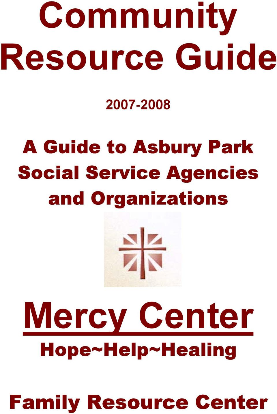 Agencies and Organizations Mercy