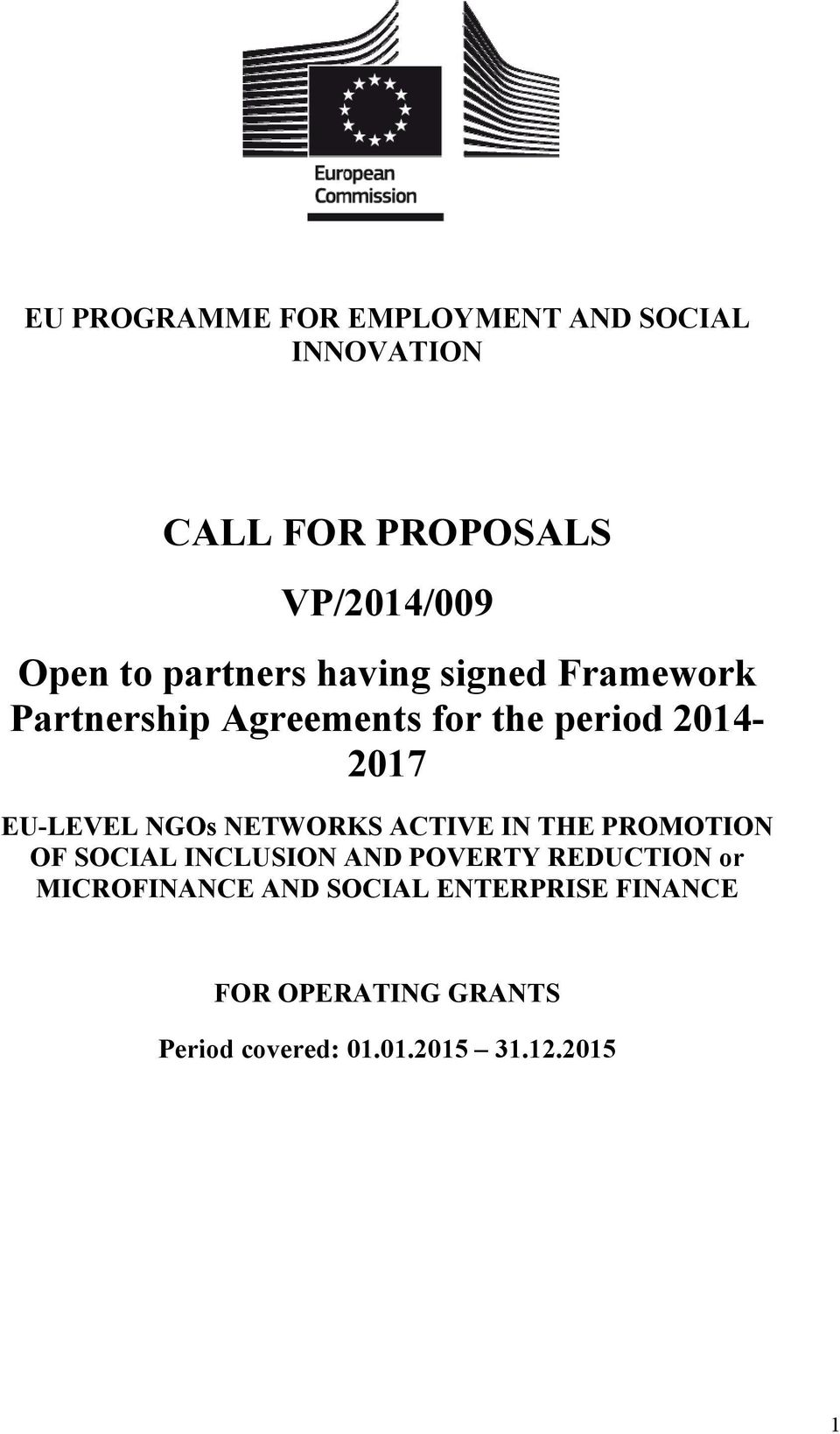 NGOs NETWORKS ACTIVE IN THE PROMOTION OF SOCIAL INCLUSION AND POVERTY REDUCTION or