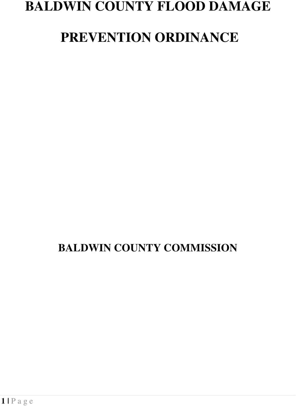 ORDINANCE BALDWIN