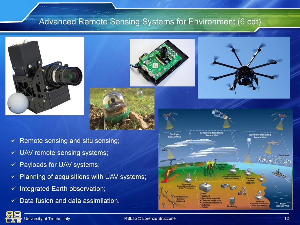 UAV systems; Planning of acquisitions with UAV systems; Integrated