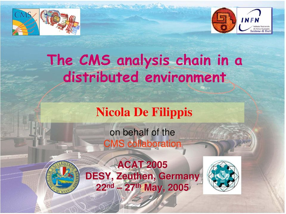 of the CMS collaboration DESY,