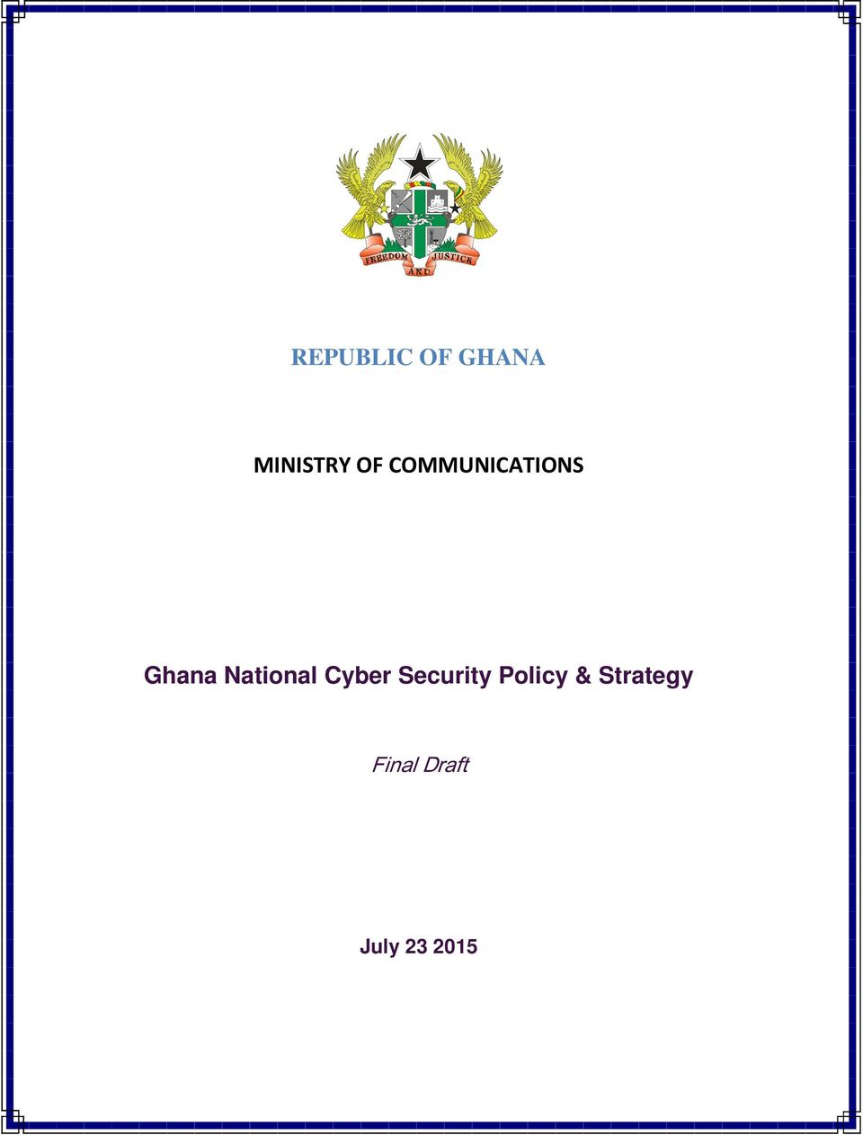 Cyber Security Policy &