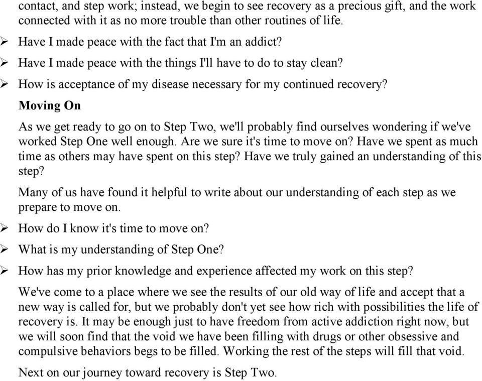 The Narcotics Anonymous Step Working Guide PDF – Aa Step 1 Worksheet