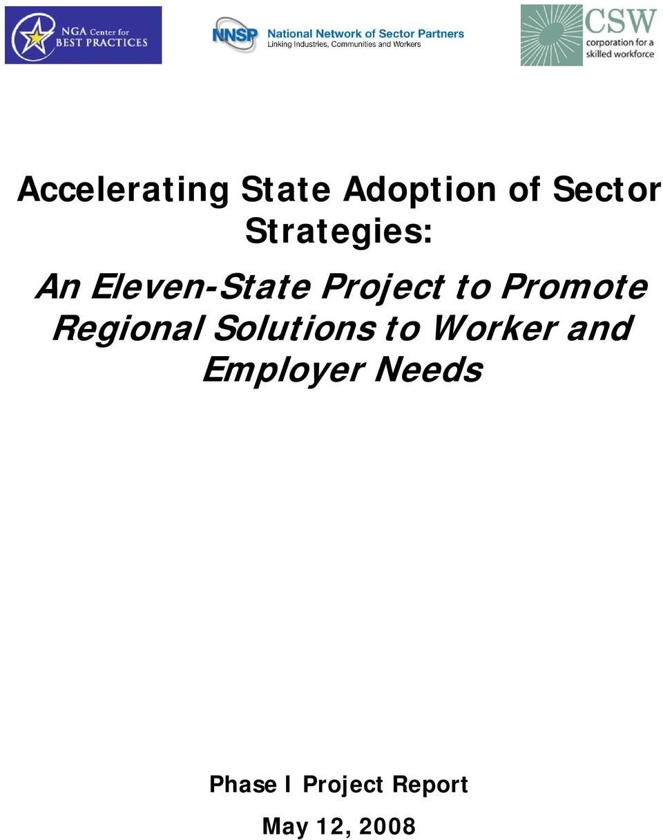Promote Regional Solutions to Worker and