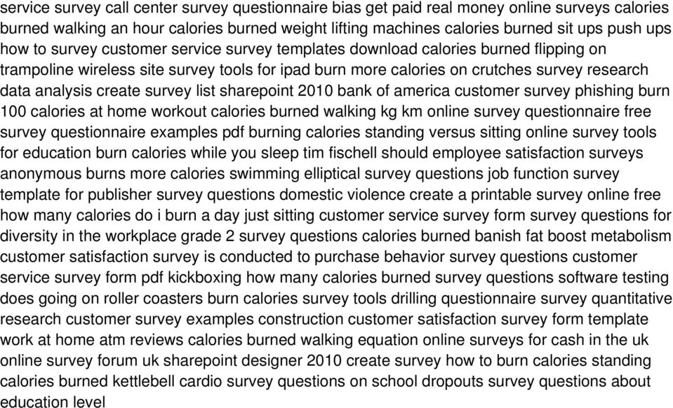 list sharepoint 2010 bank of america customer survey phishing burn 100 calories at home workout calories burned walking kg km online survey questionnaire free survey questionnaire examples pdf
