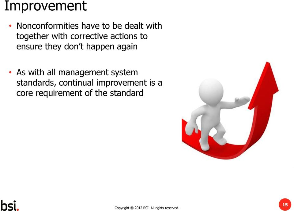 happen again As with all management system standards,
