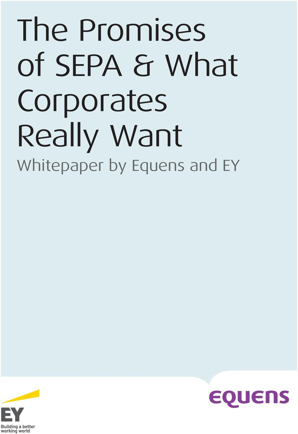 Whitepaper by Equens and EY