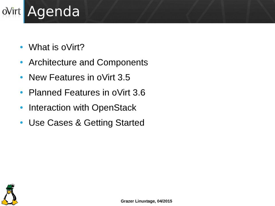 Features in ovirt 3.