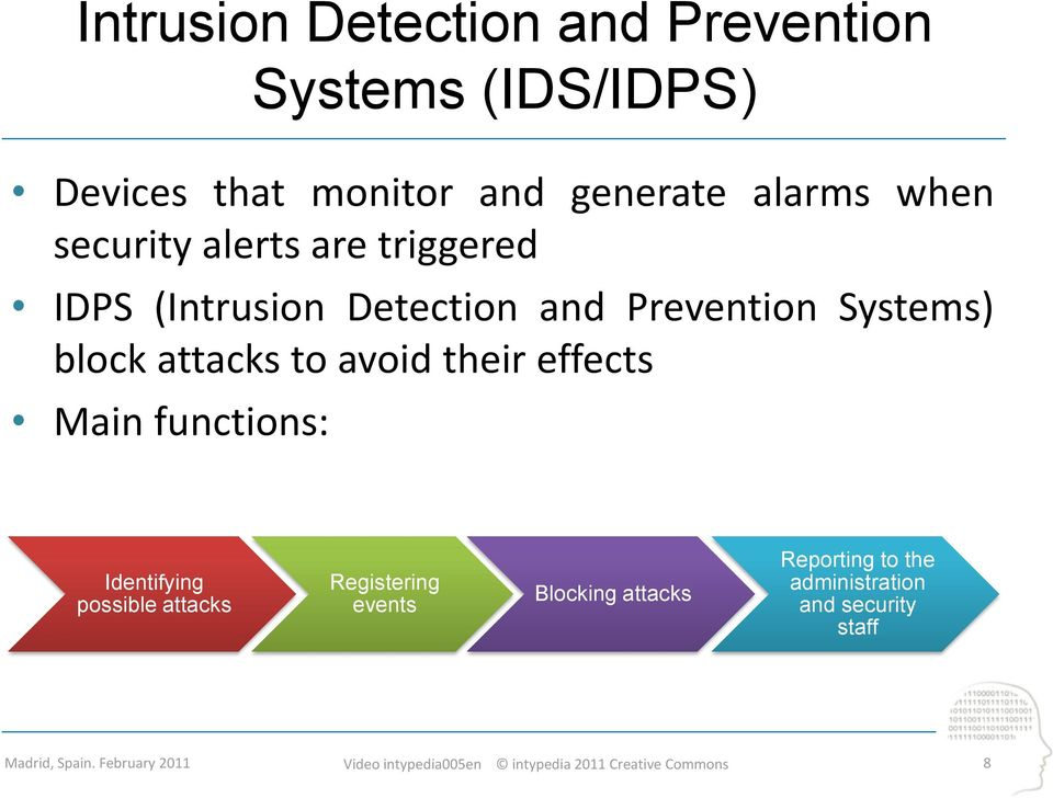 Systems) block attacks to avoid their effects Main functions: Identifying possible