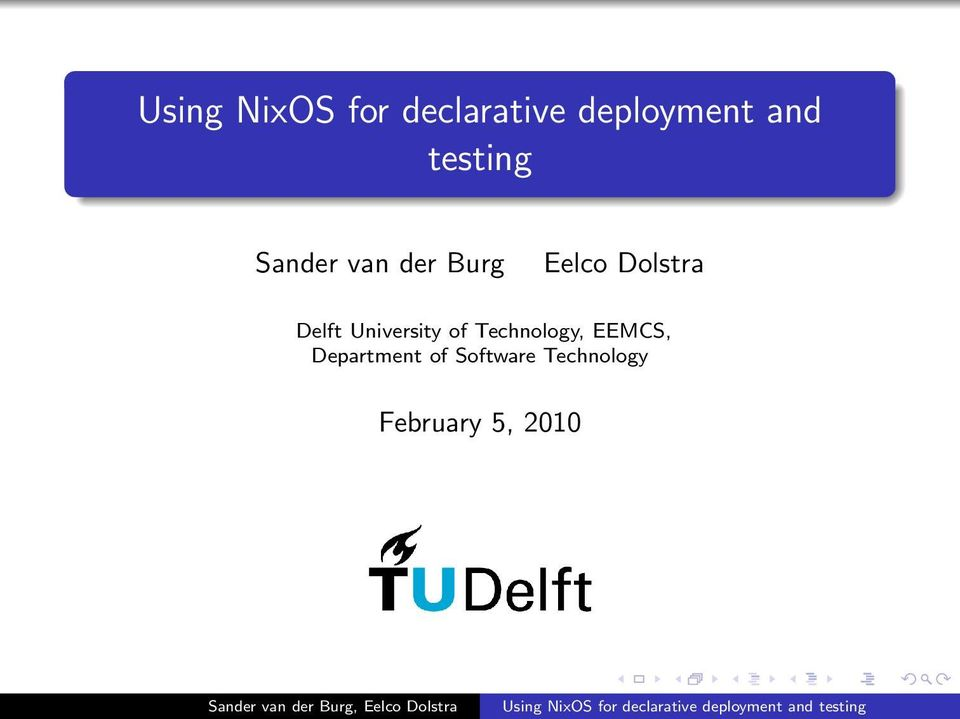 Delft University of Technology, EEMCS,