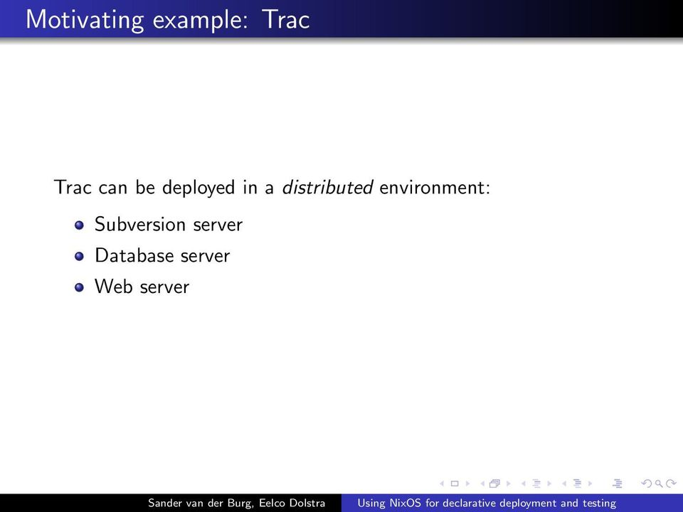 distributed environment: