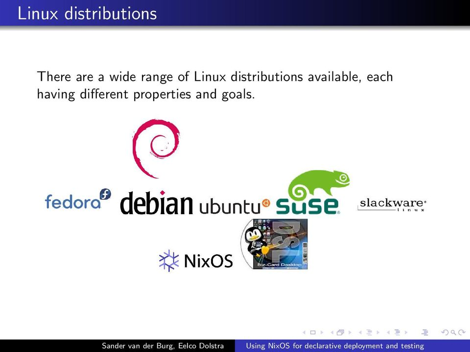 distributions available, each
