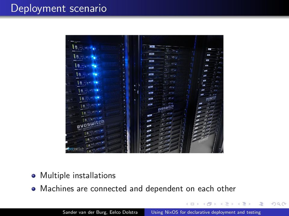 Machines are connected