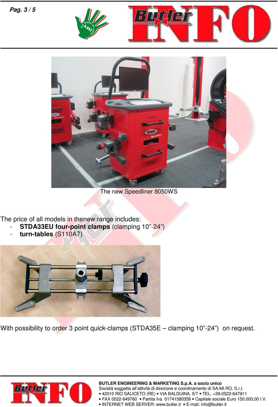 (clamping 10-24 ) - turn-tables (S110A7) With possibility to