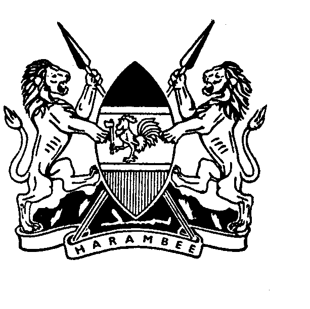 SPECIAL ISSUE THE KENYA GAZETTE Published by Authority of the Republic of Kenya (Registered as a Newspaper at the G.P.O.) Vol. CXVII No. 43 NAIROBI, 27th April, 2015 Price Sh. 60 GAZETTE NOTICE NO.
