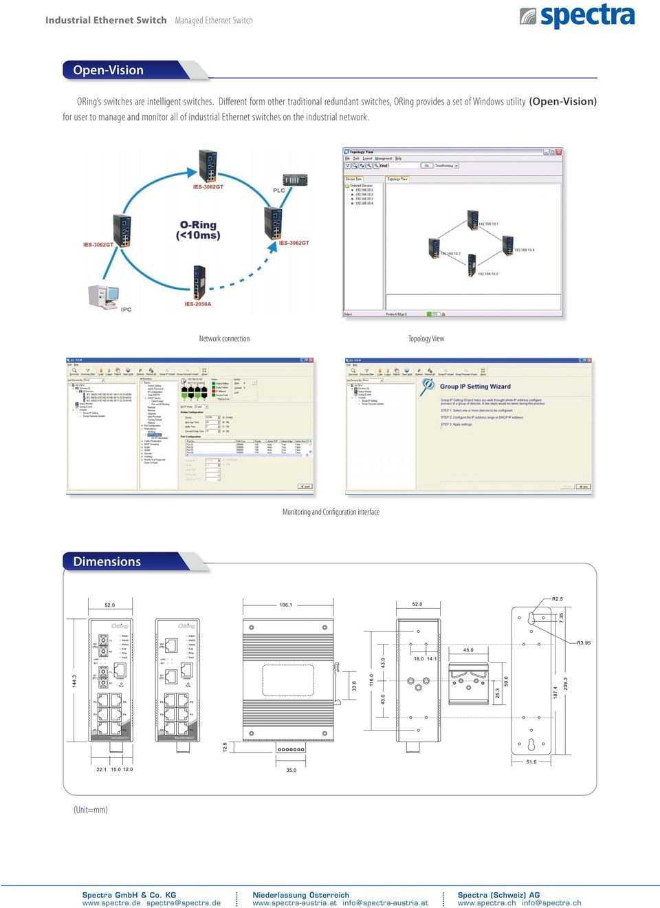 utility (Open-Vision) for user to manage and monitor all of industrial Ethernet