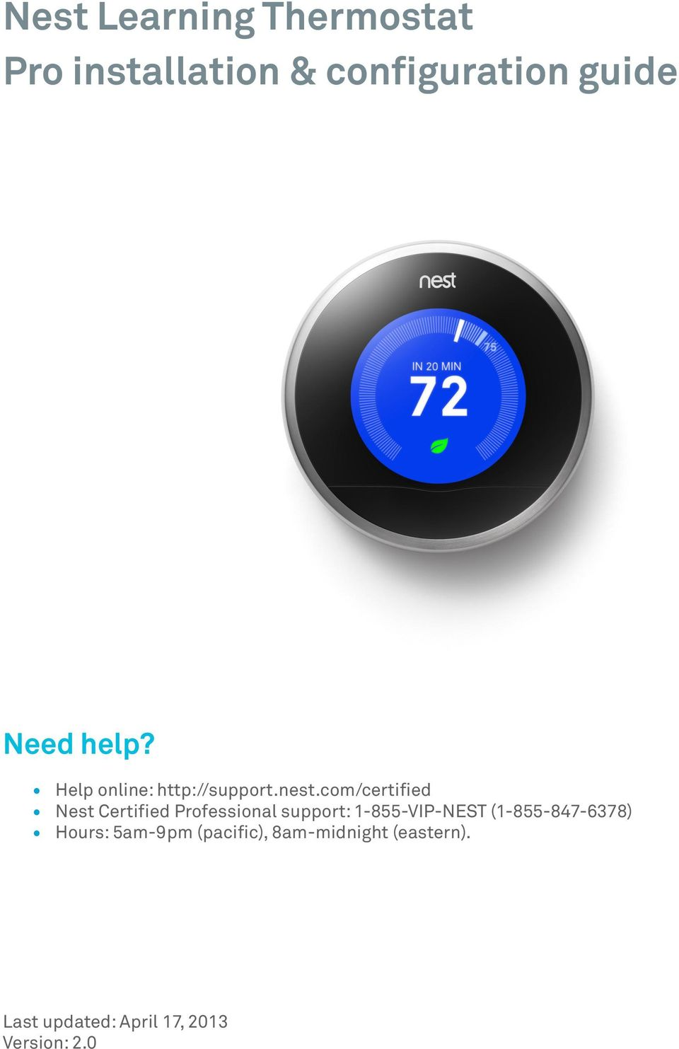 Nest Learning Thermostat Maison Design 1st Gen Wiring Diagram Pro Installation Configuration Guide Pdf