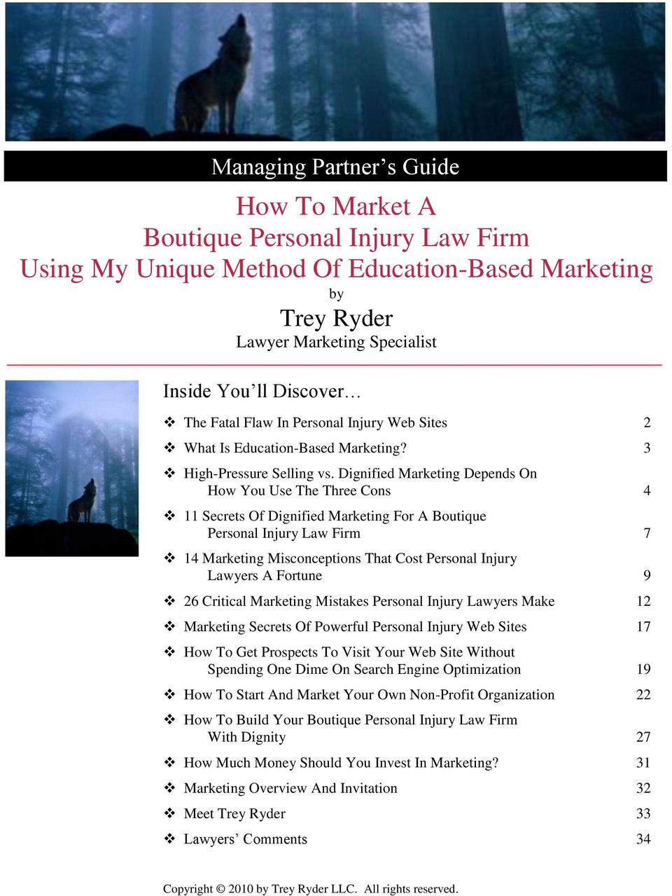 Dignified Marketing Depends On How You Use The Three Cons 4 11 Secrets Of Dignified Marketing For A Boutique Personal Injury Law Firm 7 14 Marketing Misconceptions That Cost Personal Injury Lawyers A