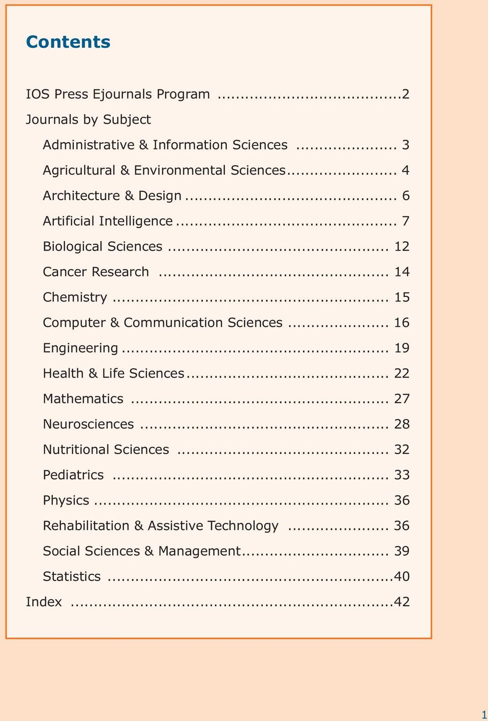 .. 15 Computer & Communication Sciences... 16 Engineering... 19 Health & Life Sciences... 22 Mathematics... 27 Neurosciences.