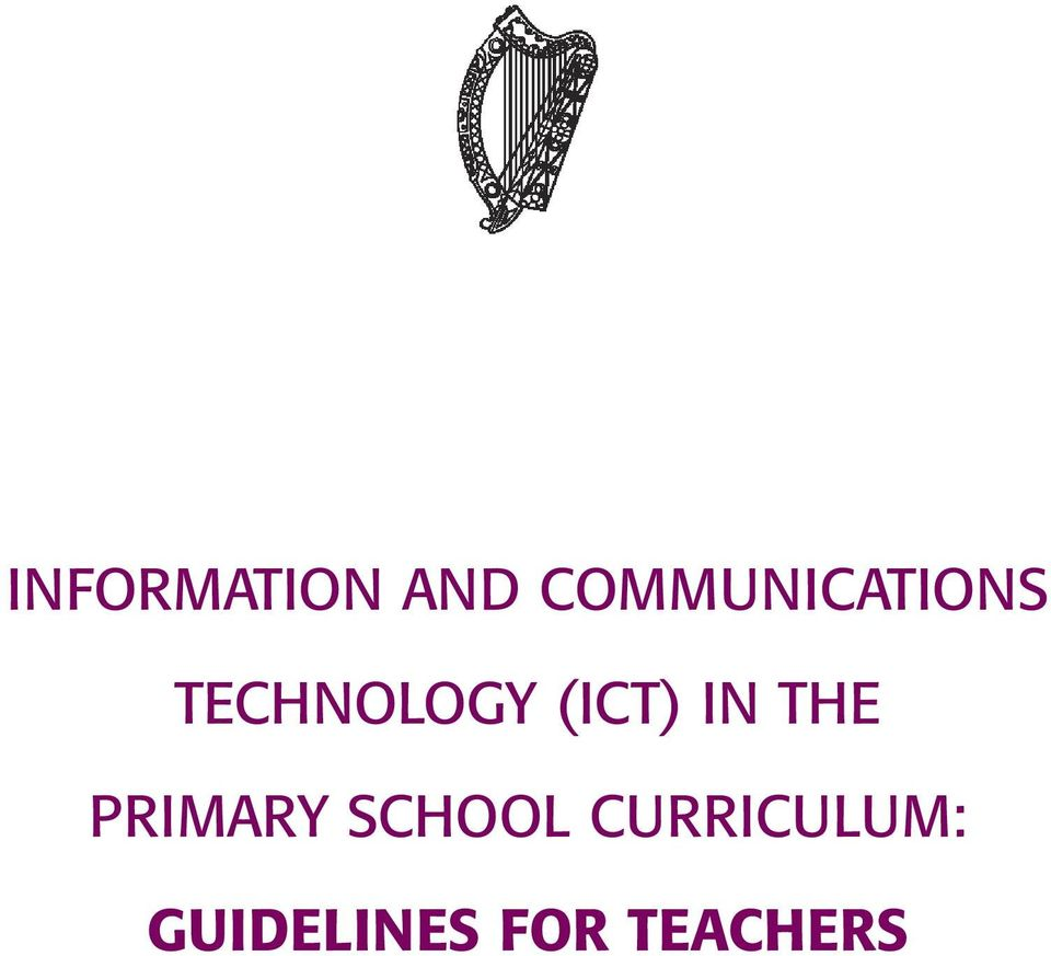 (ICT) IN THE PRIMARY