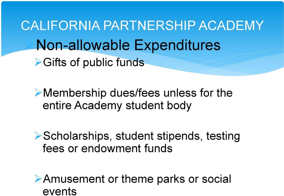entire Academy student body Scholarships, student stipends,