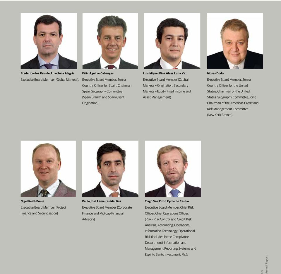 Geography Committee Markets Equity, Fixed Income and States, Chairman of the United (Spain Branch and Spain Client Asset Management). States Geography Committee, Joint Origination).