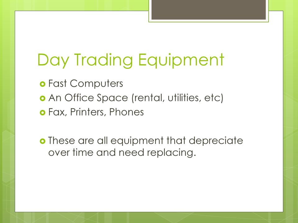 Day trading business plan