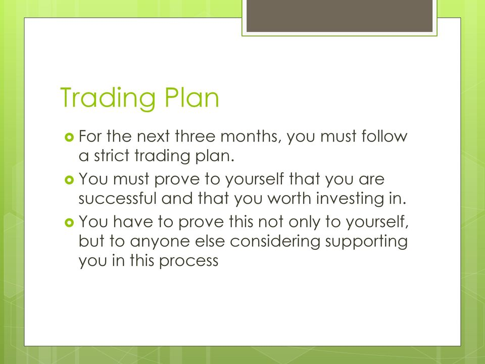 10 steps to building a winning trading plan