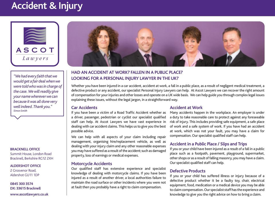 Looking for a Personal Injury lawyer in the UK?
