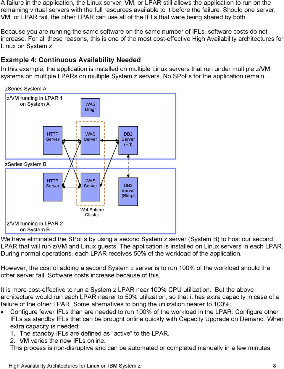 For ths rasons, this is on of th most cost-ffctiv High Availability architcturs for Linux on Systm z.