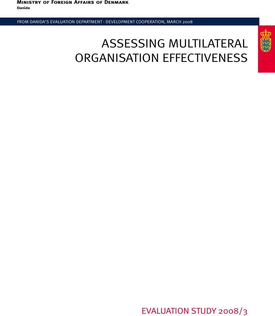 2008 Assessing Multilateral