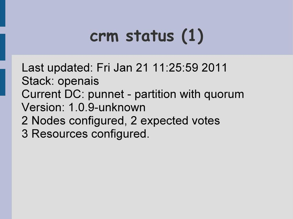 partition with quorum Version: 1.0.