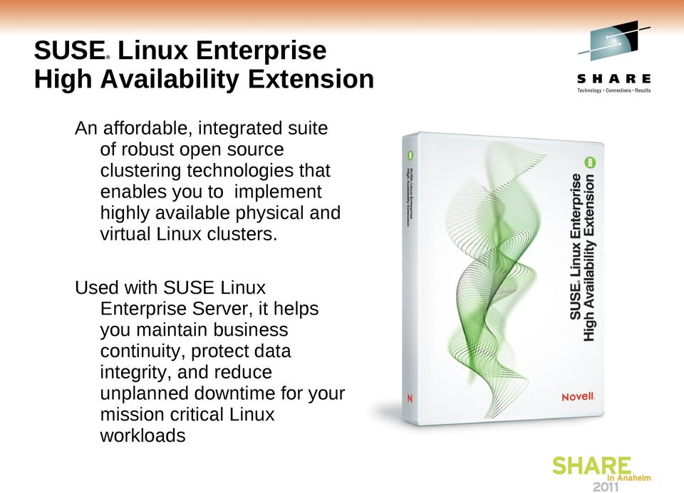 virtual Linux clusters.