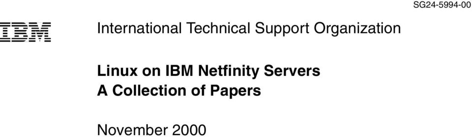 Linux on IBM Netfinity Servers